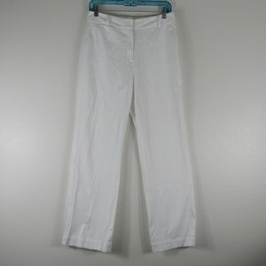 Chico's Straight Leg Flat Front Pants White 1/M